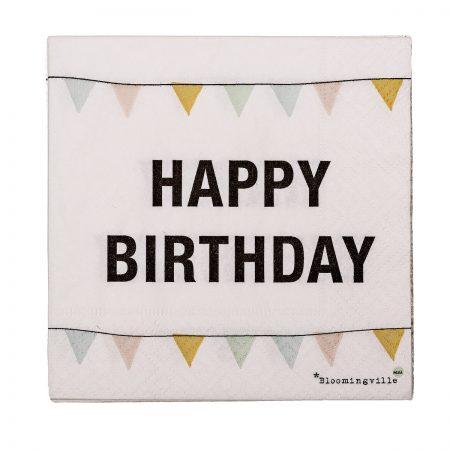 Bloomingville Papierservietten Happy Birthday