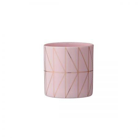 Teelichthalter Nude/Gold niedrig Bloomingville