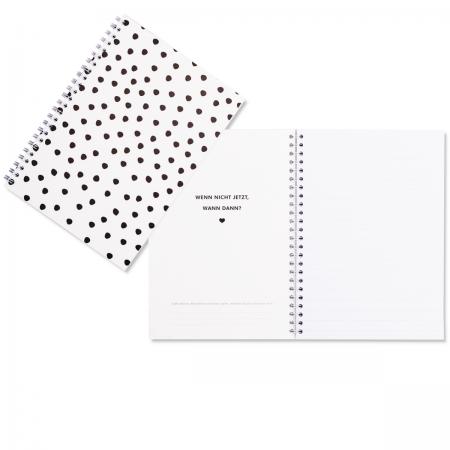 Notizbuch Dalmatiner Punkte Eulenschnitt