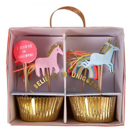 Cupcake-Set Einhörner Meri Meri verpackt