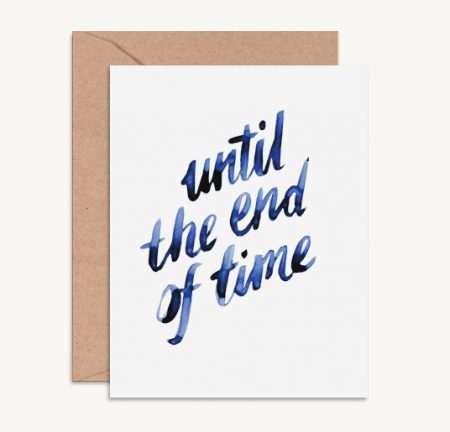 Klappkarte until the end of time Daydream Prints