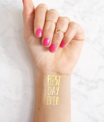 Klebetattoo Best Day Ever gold Daydream Prints