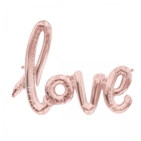 love script-ballon rosé gold von northstar balloons