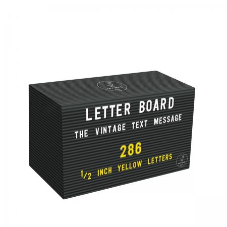 Letterboard Buchstaben-Set gelb