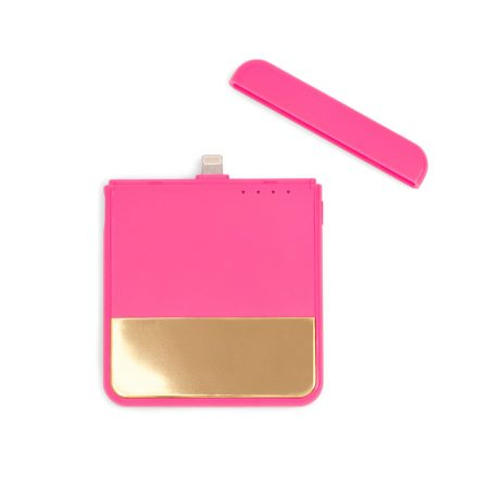 bando-mobile-charger-colorblock-neon-pink-open