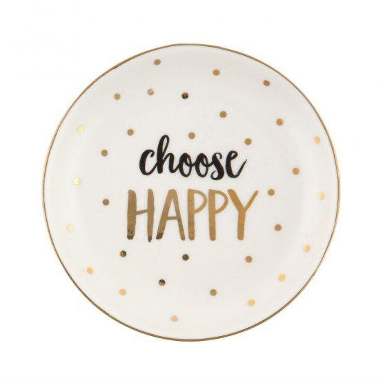 Schmuckschale Choose Happy von Sass & Belle - www.shop-hygge.de
