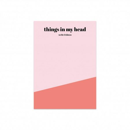Studio Stationery Notizblock Things in my head