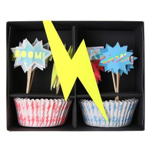 Cupcake-Set Superheld Meri Meri verpackt