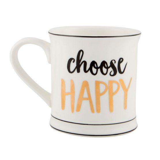 """Becher """"Choose happy"""" von Sass & Belle - www.shop-hygge.de"""
