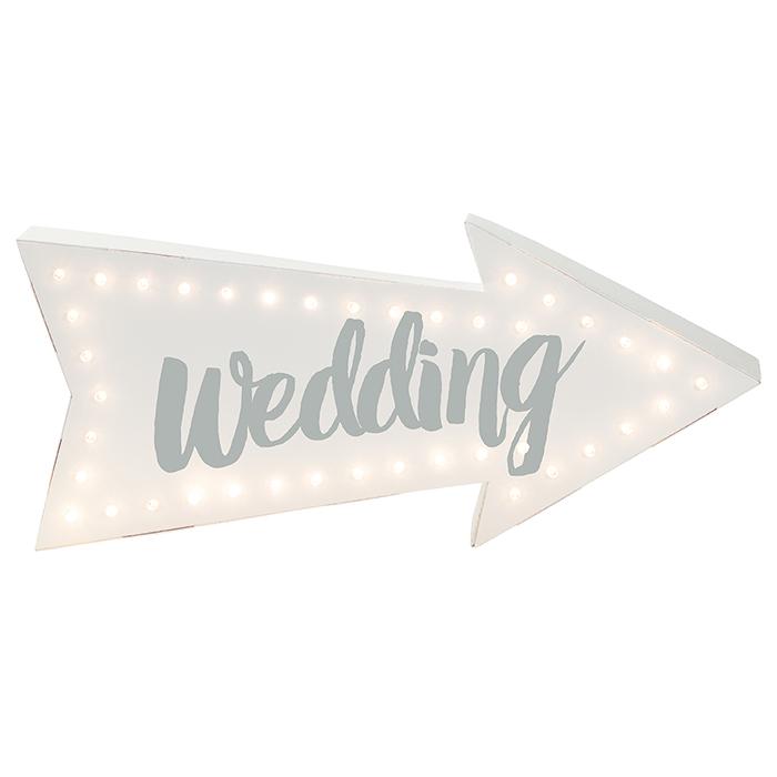 LED-Leuchtpfeil Wedding