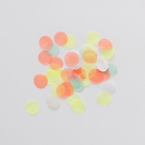Meri Meri Konfetti neon auf Tisch
