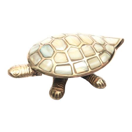 Schildkröten Schmuckschatulle gold/perlmutt