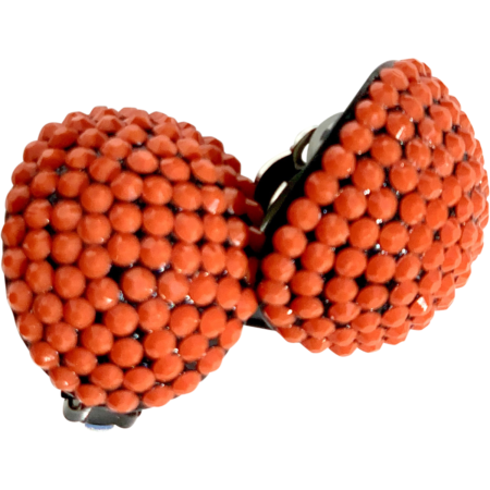 Coral Stones Earclips