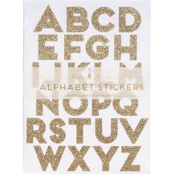 Gold Glitzer Alphabet Sticker