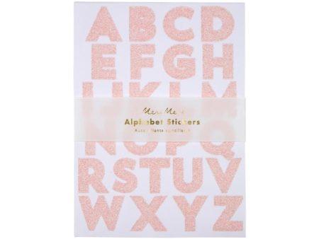 Pink Glitzer Alphabet Sticker