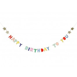 Bunte Happy Birthday Girlande