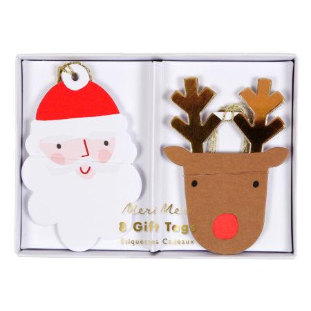 Santa & Rentier Geschenkanhänger