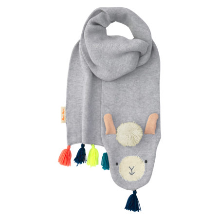 Gestrickter Llama Schal