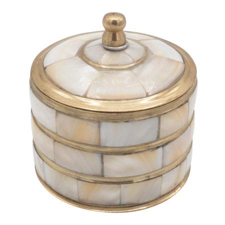 Kleine Schmuckschatulle gold/perlmutt