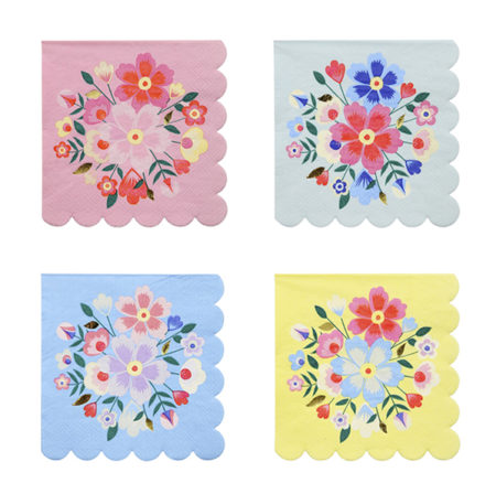 Bright Floral Servietten