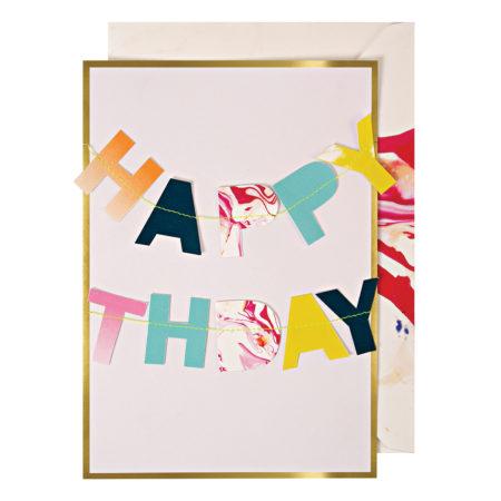 Geburtstagskarte mit Girlande