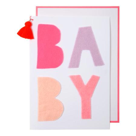 Babykarte Pinker Filz