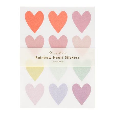 Pastel Glitzer-Herzen Sticker