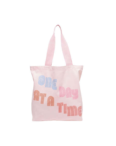 One Day at a Time Canvas Tote Bag